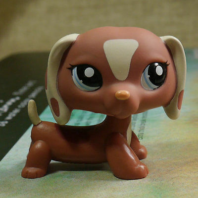 Lps Collection Figure Dachshund Dog Blue Eyes Toy 2  Lps038 Littlest Pet Shop