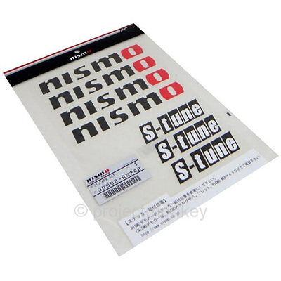 Nismo 99992-RN242 S-Tune Decal Sheet Black Decals Stickers JDM Genuine