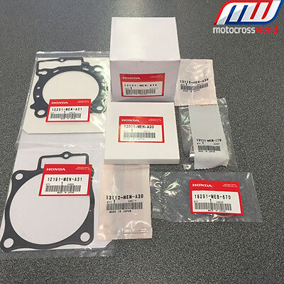 BRAND NEW in the box complete Genuine OEM Honda Piston Kit for CRF450R 2013