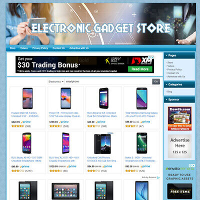 Electronic Gadgets Store - Online Business Website For Sale New Tech Product