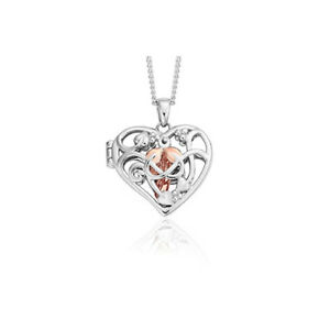 BRAND NEW Welsh Official Clogau Silver & Rose Gold Fairy Locket £50 off!