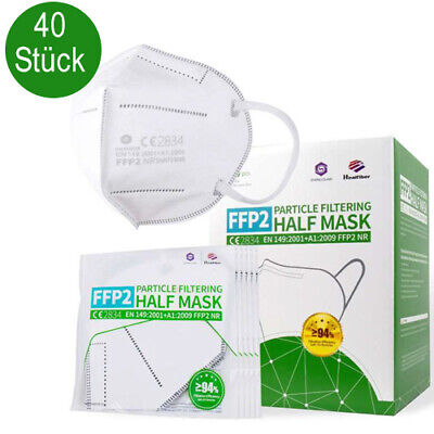 40 Stück SQ Atemschutzmaske FFP2 CE zertifiziert Mundschutz Maske