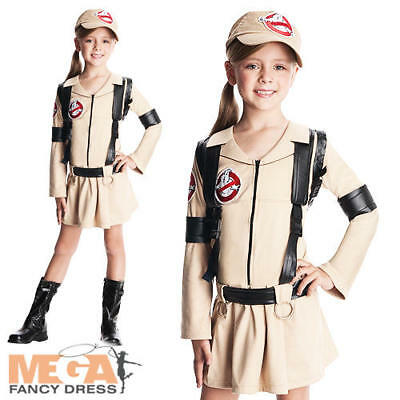1980s Ghostbusters Girls Fancy Dress Halloween 80s Kids Childrens Costume Outfit - Ghostbusters Outfit Kids