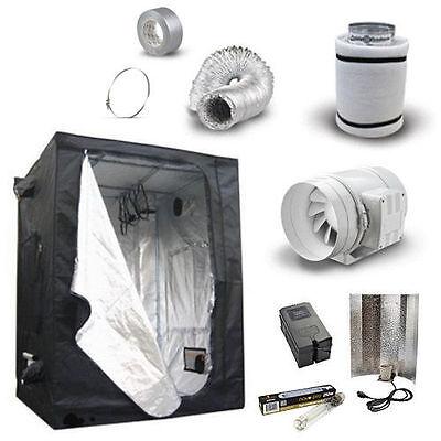 "Hydroponic Grow Room Tent Kit Fan Carbon Filter 4 5 6"" Light Kit - 250 400 600w"