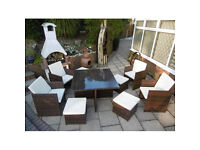 New Cube Rattan Garden Furniture Set Chairs Sofa Table Outdoor Patio Wicker 8 Seater