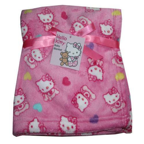 hello kitty baby blanket ebay. Black Bedroom Furniture Sets. Home Design Ideas