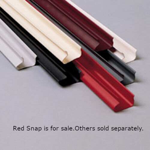 Plastic Slatwall Snaps in Red 8 feet Long x 1 H Inch - Case of 48