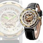 Mens Gold Leather Watch