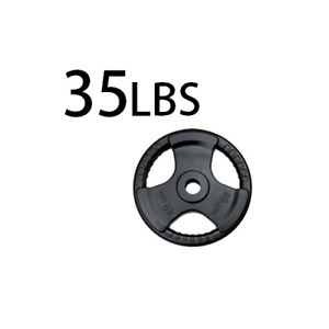 New 35 lbs x2 rubber coated olympic weight plates 2 inch poids