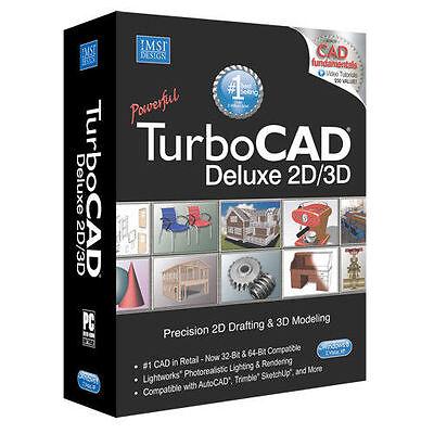 TurboCAD Deluxe 21  NEW. 2D Design and 3D Modeling CAD Design Software