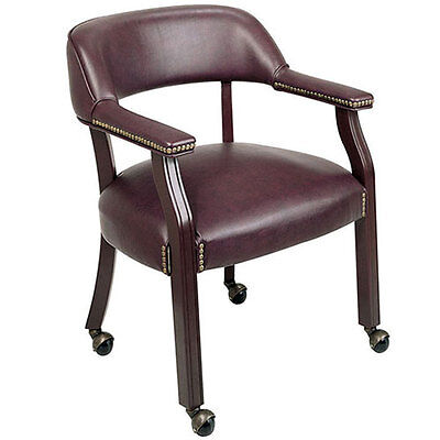 Traditional Conference Chair Meeting Room Burgundy Or Black With Wheels Casters