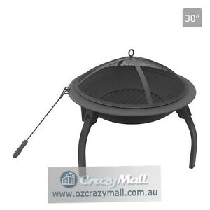 "Portable Outdoor 30"" Fire Pit with Folding Legs Melbourne CBD Melbourne City Preview"