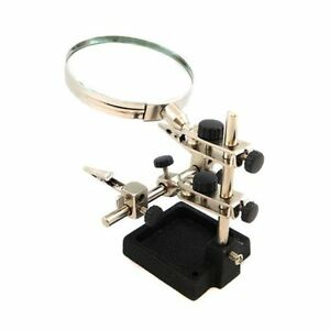 Jewellery / Craft Helping Hands Clamp With Magnifying Glass