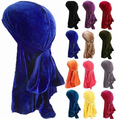Men Women Velvet Breathable Bandana Caps Turban Hat - Velvet Pirate Hat