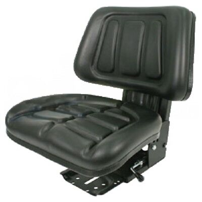 BLACK FULLBACK TRACTOR SUSPENSION SEAT FORD / NEW HOLLAND 600, 601,800,801 (Black Tractor)