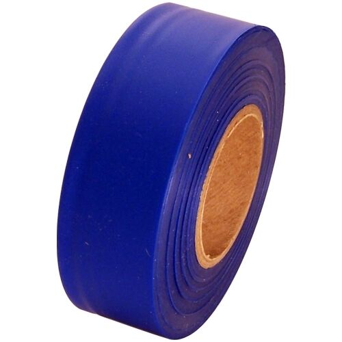 """Blue Flagging Tape 1 3/16"""" x 300 ft Roll Non-Adhesive"""