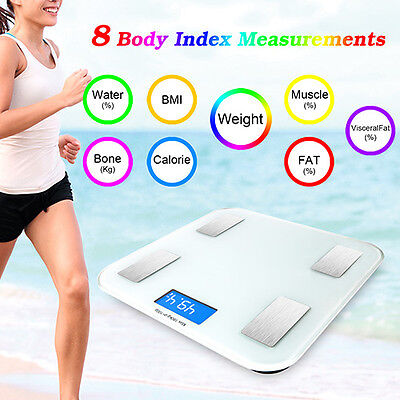 Bluetooth Digital Smart Scale Body Weight Fat BMI Bone Analyzer For iOS Android