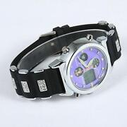 Mens Purple Dial Watch