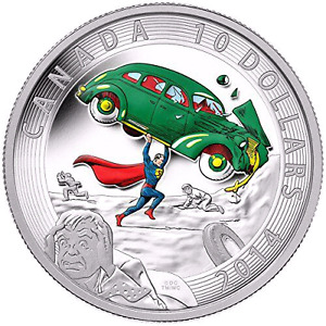 "2014 ""SUPERMAN""  SILVER COIN - Action Comics #1(1938) - MINT!!!"