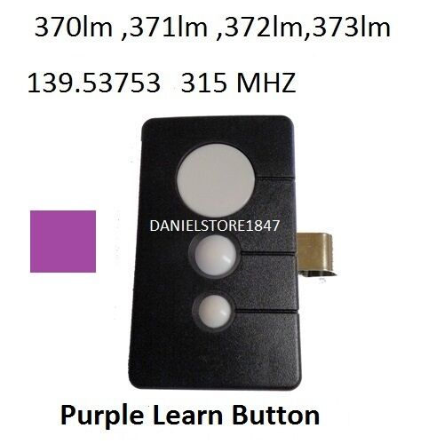 sears 3 button garage door opener remote