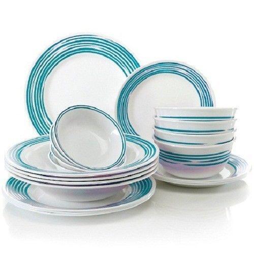 turquoise dinnerware set ebay. Black Bedroom Furniture Sets. Home Design Ideas