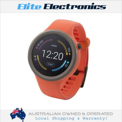 MOTOROLA MOTO 360 Diversion FLAME 45MM SMART WATCH ANDROID WEAR GOOGLE PLAY APPS