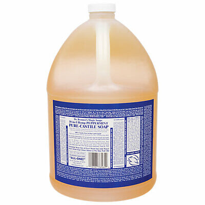 Organic Oils Castile Soap - Dr. Bronners Castile Soap - Made with Organic Oils - Peppermint (1 Gallon)