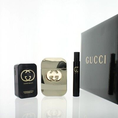 GUCCI GUILTY by Gucci 3 Piece NEW Gift Set with 2.5 oz EDT SPRAY for Women - Gucci Gift Set Spray