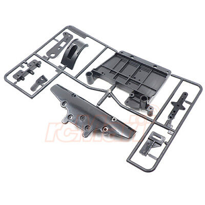 Tamiya Battery Holder Bumper E Parts Set Black For TA01 TA02 TA02SW RC #10005402, used for sale  Shipping to United States