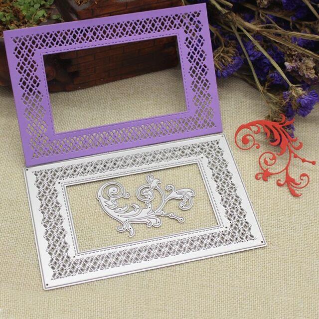 DIY  Flower Frame Cutting Dies Embossing Stencil Card Making Scrapbooking Craft