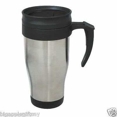 Stainless Steel Insulated Double Wall Travel Coffee Mug CUP 14 OZ NEW!!