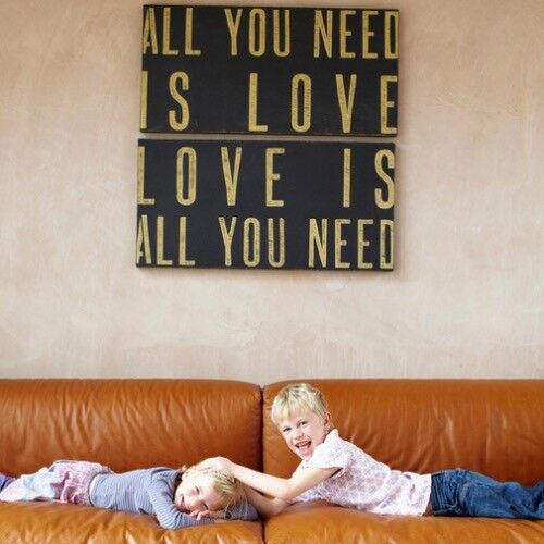 All you need is love, love is all you need wall art panels Beatles ...
