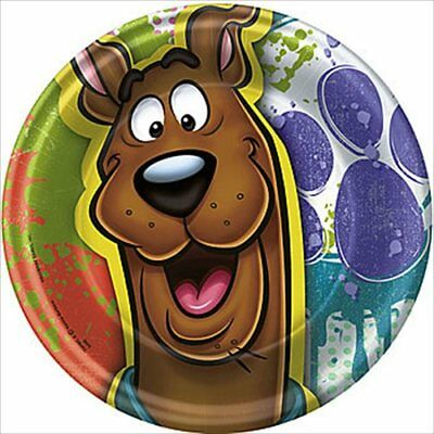 Paint Splatter Party Supplies (SCOOBY DOO Paint Splatter SMALL PAPER PLATES (8) ~ Birthday Party Supplies)