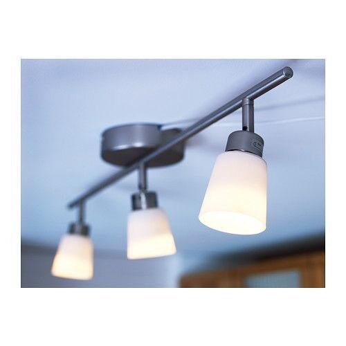 IKEA 3 LED Spotlight Ceiling Light, Glass Shades