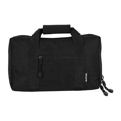 VISM Tactical Black 2 Pistol Case Range Bag For Glock 17 19
