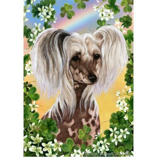 Clover House Flag - Chinese Crested 31069