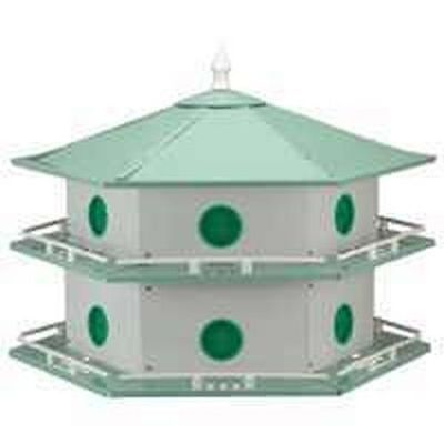 NEW PURPLE MARTIN BIRD HOUSE HEATH AH-12D 12 APARTMENT 6309116 Aluminum Purple Martin House