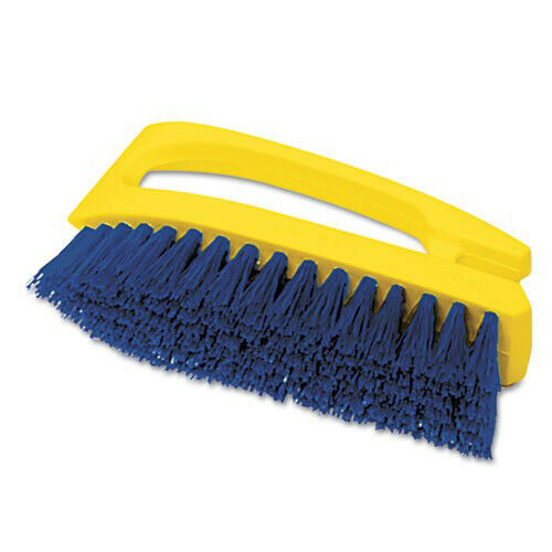 Rubbermaid Commercial 6482COB Long Handle 6 in. Scrub Brush - Yellow/Blue New