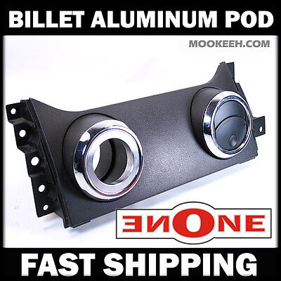Mookeeh MK1 Cnc Machined Billet Aluminum Air Vent Gauge Pod 05-09 Mustang V6 GT Billet Aluminum Air Vent