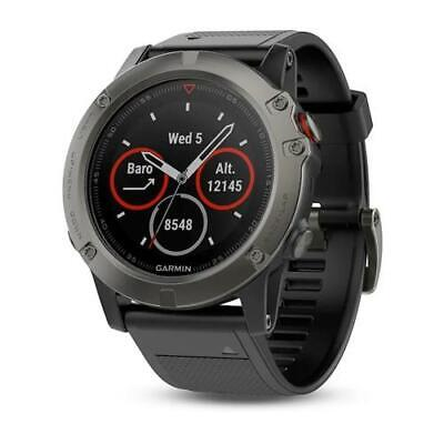 Garmin Fenix 5X Sapphire HR GPS Multisports Hiking Watch Black/Slate