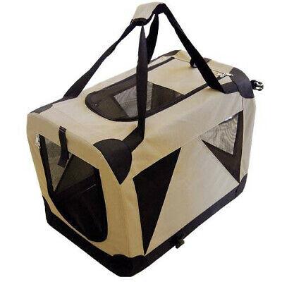 Transportin plegable caseta loneta Cargo portatil camel extra grande 94x63x63 cm