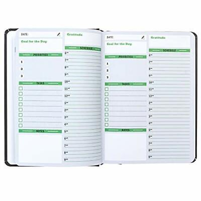 Sunnyside Undated Planner - Daily Organizer Hourly Day And Monthly Black