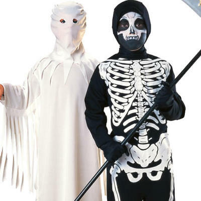 Ghost Skeleton Kids Halloween Fancy Dress Spooky Boys Girls Costume Outfits - Spooky Kids Halloween Costumes
