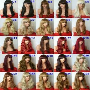 Womans-Long-Wavy-Lady-Blonde-Wig-Black-Brown-Red-Wigs-Ladies-Lady-Fashion-Wig-C