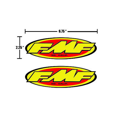 FMF SX MX FRONT FENDER DECAL GRAPHICS STICKERS -