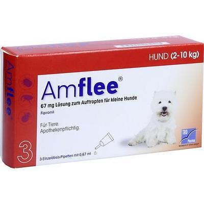 AMFLEE 67 mg Lösung zum Auftropfen f.kleine Hunde 3 St PZN 11099792