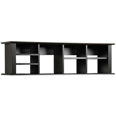 Broadway Black Wall Mounted Desk Hutch Bookshelf Office Furniture Book Case