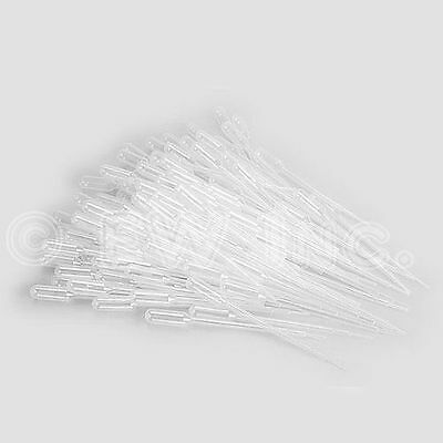 100 3ml Durable Dropper Transfer Graduated Pipettes Disposable Plastic USA Sale