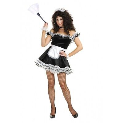- Lolita French Maid Chamber Upstairs Black Dress Up Halloween Sexy Adult Costume