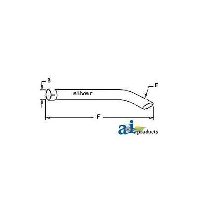34219-12410 Exhaust Pipe Extension For Ai Muffler Used On Kubota Tractors L185